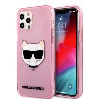 Чехол Karl Lagerfeld для iPhone 12 Pro Max (6.7) TPU Glitters Choupette Hard Transp Pink (KLHCP12LCHTUGLP)