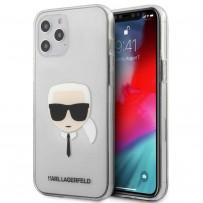 Чехол Karl Lagerfeld для iPhone 12 Pro Max PC/TPU Karl's Head Hard Transparent (KLHCP12LKTR)