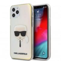 Чехол Karl Lagerfeld для iPhone 12 Pro Max (6.7) чехол PC/TPU Karl's Head Hard Iridescent (KLHCP12LPCKHML)