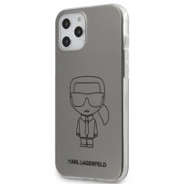 Чехол Karl Lagerfeld для iPhone 12 Pro Max PC/TPU Ikonik outlines Metallic eff Hard Silver (KLHCP12LPCUMIKSL)