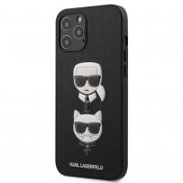 Чехол Karl Lagerfeld для iPhone 12 Pro Max PU Saffiano Karl and Choupette Hard Black (KLHCP12LSAKICKCBK)