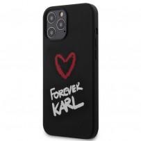 Чехол Karl Lagerfeld для iPhone 12 Pro Max (KLHCP12LSILKRBK)