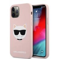 Чехол Karl Lagerfeld для iPhone 12 Pro Max (6.7) Liquid silicone Choupette Hard Pink (KLHCP12LSLCHLP)