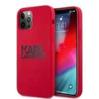 Чехол Karl Lagerfeld для iPhone 12 Pro Max (6.7) Liquid silicone stack logo Hard Red (KLHCP12LSLKLRE)