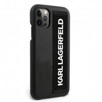 Чехол Karl Lagerfeld для iPhone 12 Pro Max PU with Elastic Strap Hard Black (KLHCP12LSTKLBK)