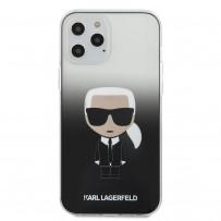 Чехол Karl Lagerfeld для iPhone 12 Pro Max PC/TPU Ikonik Karl Hard Gradient Black (KLHCP12LTRDFKBK)
