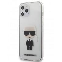 Чехол Karl Lagerfeld для iPhone 12 Pro Max PC/TPU Ikonik Karl Hard Transparent (KLHCP12LTRIK)