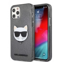 Чехол Karl Lagerfeld для iPhone 12/12 Pro (6.1) TPU Glitters Choupette Hard Transp Black (KLHCP12MCHTUGLB)