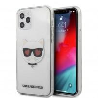 Чехол Karl Lagerfeld для iPhone 12/12 Pro PC/TPU Choupette Head Hearts Hard Transp (KLHCP12MCLTR)
