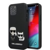 Чехол Karl Lagerfeld для iPhone 12/12 Pro PU Karl & Choupette bodies Hard Black (KLHCP12MPCUSKCBK)