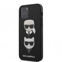 Чехол Karl Lagerfeld для iPhone 12/12 Pro чехол PU Saffiano Karl and Choupette Hard Black (KLHCP12MSAKICKCBK)