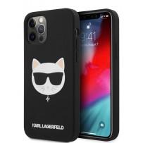Чехол Karl Lagerfeld для iPhone 12/12 Pro (6.1) Liquid silicone Choupette Hard Black (KLHCP12MSLCHBK)
