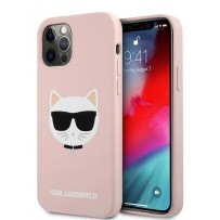 Чехол Karl Lagerfeld для iPhone 12/12 Pro (6.1) Liquid silicone Choupette Hard Pink (KLHCP12MSLCHLP)