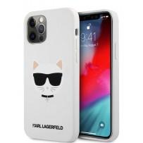 Чехол Karl Lagerfeld для iPhone 12/12 Pro (6.1) Liquid silicone Choupette Hard White (KLHCP12MSLCHWH)
