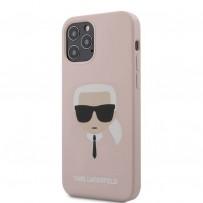 Чехол Karl Lagerfeld для iPhone 12/12 Pro чехол Liquid silicone Karl's Head Hard Pink (KLHCP12MSLKHLP)