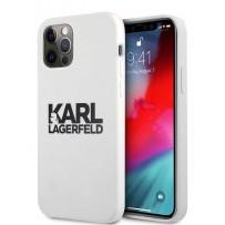 Чехол Karl Lagerfeld для iPhone 12/12 Pro (6.1) Liquid silicone stack logo Hard White (KLHCP12MSLKLWH)