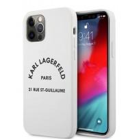 Чехол Karl Lagerfeld для iPhone 12/12 Pro (6.1) Liquid silicone RSG logo Hard White (KLHCP12MSLSGWH)