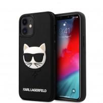 Чехол Karl Lagerfeld для iPhone 12 mini 3D Rubber Choupette's head Hard Black (KLHCP12SCH3DBK)