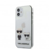 Чехол Karl Lagerfeld для iPhone 12 mini PC/TPU Ikonik Karl & Choupette Hard Transp (KLHCP12SCKTR)