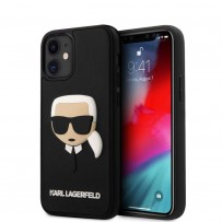 Чехол Karl Lagerfeld для iPhone 12 mini 3D Rubber Karl's head Hard Black (KLHCP12SKH3DBK)