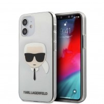 Чехол Karl Lagerfeld для iPhone 12 mini PC/TPU Karl's Head Hard Transparent (KLHCP12SKTR)