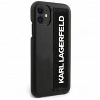 Чехол Karl Lagerfeld для iPhone 12 mini чехол PU with Elastic Strap Hard Black (KLHCP12SSTKLBK)