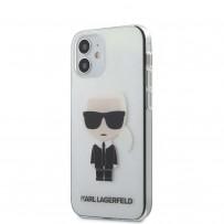 Чехол Karl Lagerfeld для iPhone 12 mini PC/TPU Ikonik Karl Hard Transparent (KLHCP12STRIK)