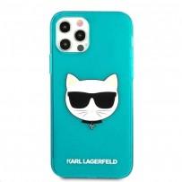 Чехол KARL Lagerfeld для iPhone 13 Pro TPU FLUO Choupette Hard Transp Blue (KLHCP13LCHTRB)