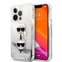 Чехол KARL Lagerfeld для iPhone 13 Pro PC/TPU Karl & Choupette heads Hard Silver (KLHCP13LKICGLS)