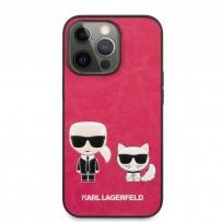 Чехол KARL Lagerfeld для iPhone 13 Pro PU Karl & Choupette Hard Fushia (KLHCP13LPCUSKCP)