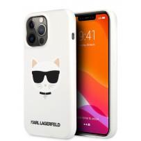 Чехол KARL Lagerfeld для iPhone 13 Pro Liquid silicone Choupette Hard White (KLHCP13LSLCHWH)