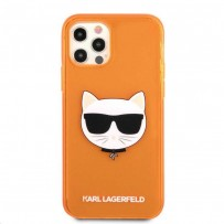 Чехол KARL Lagerfeld для iPhone 13 TPU FLUO Choupette Hard Transp Orange (KLHCP13MCHTRO)