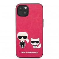 Чехол KARL Lagerfeld для iPhone 13 PU Karl & Choupette Hard Fushia (KLHCP13MPCUSKCP)