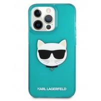 Чехол KARL Lagerfeld для iPhone 13 Pro Max PU Karl & Choupette Hard Fushia (KLHCP13XCHTRB)