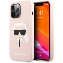 Чехол KARL Lagerfeld для iPhone 13 Pro Max Liquid silicone Karl's Head Hard Pink (KLHCP13XSLKHLP)