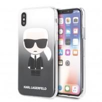 Чехол KARL Lagerfeld для iPhone X/XS TPU collection Karl Iconik Hard Gradient Black