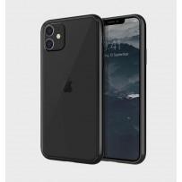 Противоударный чехол-лёд для iPhone 11, кристально-прозрачный, черный