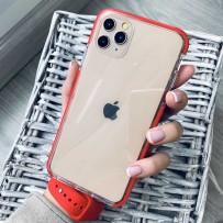 """Противоударный чехол """"Фруктовый лед"""" для iPhone 12/ 12 Pro, красный"""