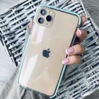"""Противоударный чехол """"Фруктовый лед"""" для iPhone 12 mini, мятный"""