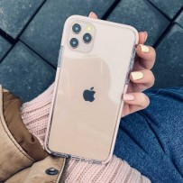 """Противоударный чехол """"Фруктовый лед"""" для iPhone 12/ 12 Pro, персиковый"""