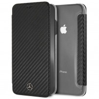 Чехол Mercedes-Benz для iPhone XS Max Dynamic PU leather Booktype Black