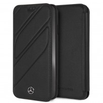 Чехол Mercedes-Benz для iPhone XS Max New Organic I Booktype Leather Black