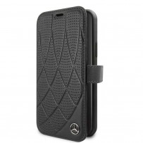 Чехол Mercedes-Benz для iPhone 11 Pro Bow Quilted/perforated Booktype Leather Black