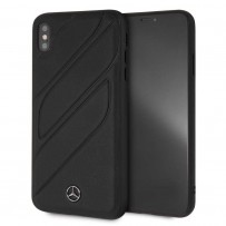 Чехол Mercedes-Benz для iPhone XS Max New Organic I Hard Leather Black