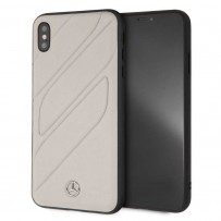 Чехол Mercedes-Benz для iPhone XS Max New Organic I Hard Leather Grey