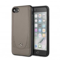 Чехол Mercedes-Benz для iPhone 7/8/ SE 2 Urban Smooth/perforated Hard Leather Brown