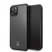 Чехол Mercedes-Benz для iPhone 11 Pro Dynamic Real carbon Hard Black