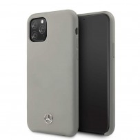 Чехол Mercedes-Benz для iPhone 11 Pro Silicone line Hard Grey