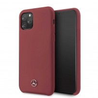 Чехол Mercedes-Benz для iPhone 11 Pro Silicone line Hard Red