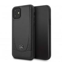 Чехол Mercedes-Benz для iPhone 11 чехол Urban Smooth/perforated Hard Leather Black
